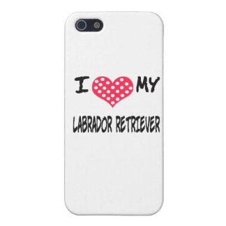 AMO A MI LABRADOR RETRIEVER iPhone 5 CÁRCASA