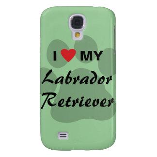 Amo a mi labrador retriever Pawprint Samsung Galaxy S4 Cover