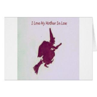Amo a mi madre en law1 tarjeta