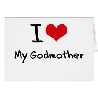 Amo a mi madrina felicitación