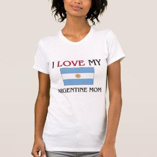 Amo a mi mamá de Argentina Camiseta