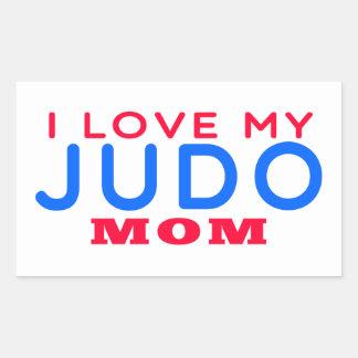 Amo a mi mamá del judo pegatina
