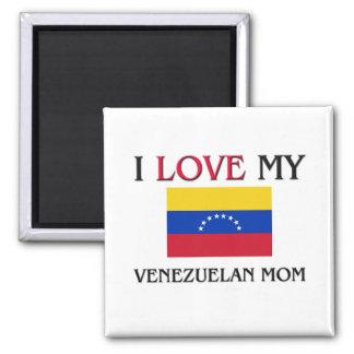 Amo a mi mamá venezolana imán cuadrado