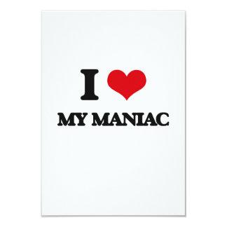 Amo a mi maniaco invitación 8,9 x 12,7 cm