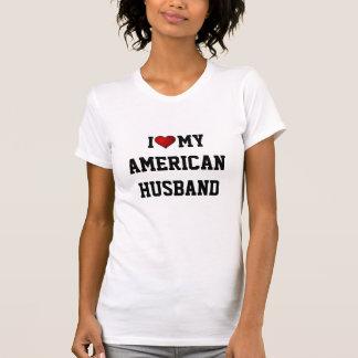 Amo a mi marido americano camiseta