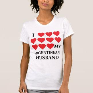 Amo a mi marido argentino camiseta