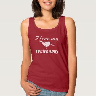 Amo a mi marido camiseta de tirantes básica
