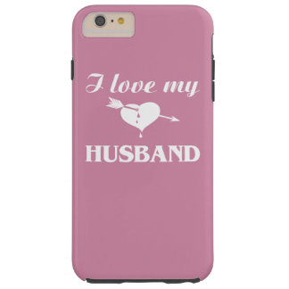 Amo a mi marido funda para iPhone 6 plus tough