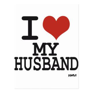 Amo a mi marido postal