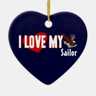 Amo a mi marinero ornamentos de reyes