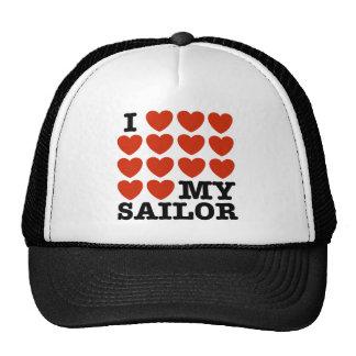 Amo a mi marinero gorros