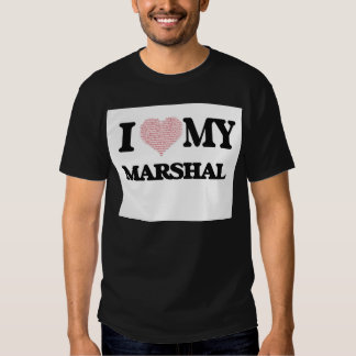 Amo a mi mariscal (el corazón hecho de palabras) camisetas
