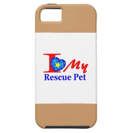 "Amo a mi mascota ""Heroes4Rescue "" del rescate iPhone 5 Protectores"