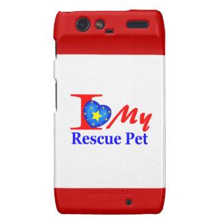 Amo a mi mascota Heroes4Rescue del rescate Droid RAZR Carcasa