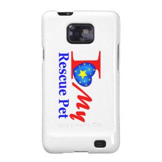 "Amo a mi mascota ""Heroes4Rescue "" del rescate Samsung Galaxy SII Carcasas"