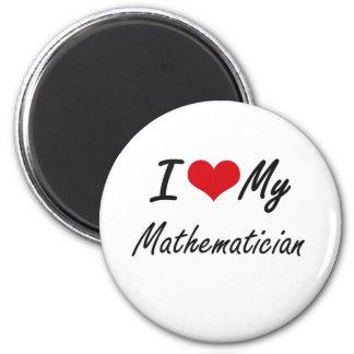 Amo a mi matemático imán redondo 5 cm
