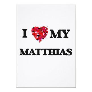 Amo a mi Matías Invitación 12,7 X 17,8 Cm
