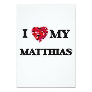 Amo a mi Matías Invitación 8,9 X 12,7 Cm