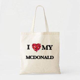 Amo a MI Mcdonald Bolsa Tela Barata