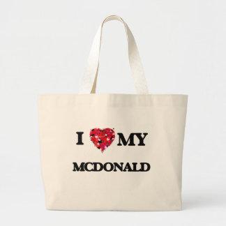 Amo a MI Mcdonald Bolsa Tela Grande