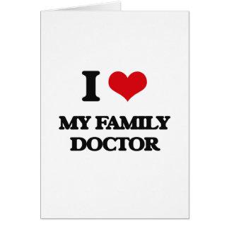 Amo a mi médico de cabecera tarjeta de felicitación