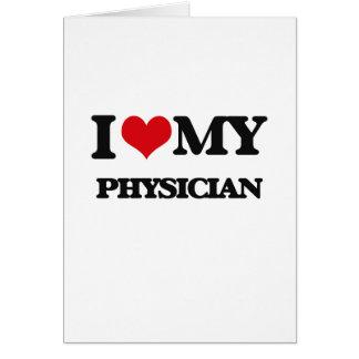 Amo a mi médico tarjetas