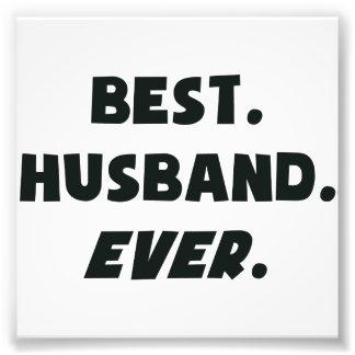 Amo a mi mejor marido de los mundos nunca impresión fotográfica