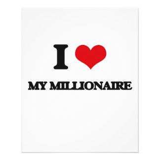 Amo a mi millonario flyer a todo color