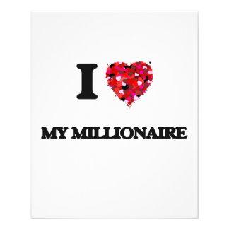 Amo a mi millonario folleto 11,4 x 14,2 cm
