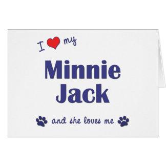 Amo a mi Minnie Jack (el perro femenino) Tarjeton