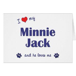 Amo a mi Minnie Jack el perro masculino Felicitación