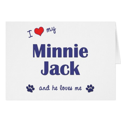 Amo a mi Minnie Jack (el perro masculino) Felicitación