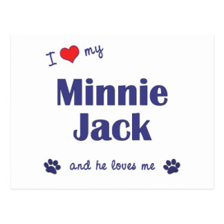Amo a mi Minnie Jack (el perro masculino) Postal