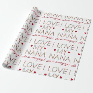 Amo a mi Nana, ella estoy sorprendiendo el papel Papel De Regalo