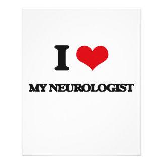 Amo a mi neurólogo tarjetas informativas