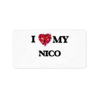 Amo a mi Nico Etiquetas De Dirección