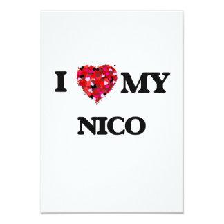 Amo a mi Nico Invitación 8,9 X 12,7 Cm