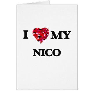Amo a mi Nico Tarjeta De Felicitación