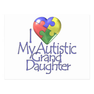 Amo a mi nieta autística postal