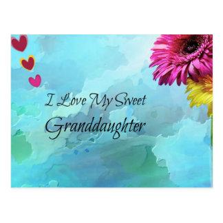 Amo a mi nieta dulce postal