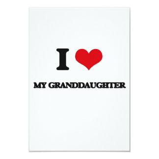 Amo a mi nieta invitación 8,9 x 12,7 cm