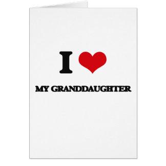 Amo a mi nieta tarjeta de felicitación