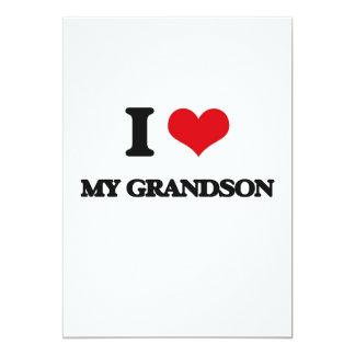 Amo a mi nieto invitación 12,7 x 17,8 cm