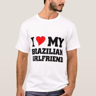 Amo a mi novia brasileña camiseta