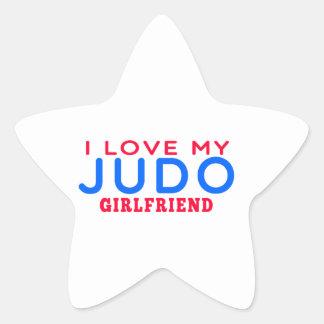 Amo a mi novia del judo calcomanía forma de estrella