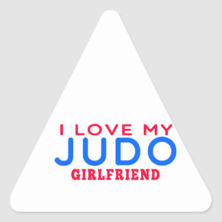 Amo a mi novia del judo pegatinas de triangulo personalizadas