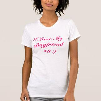 Amo a mi novio <3:) camisetas