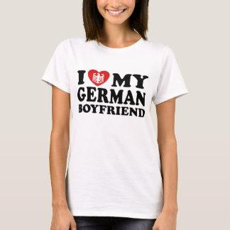 Amo a mi novio alemán camiseta