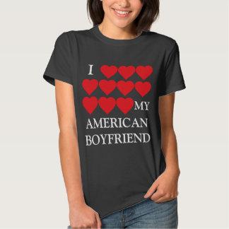 Amo a mi novio americano camisetas