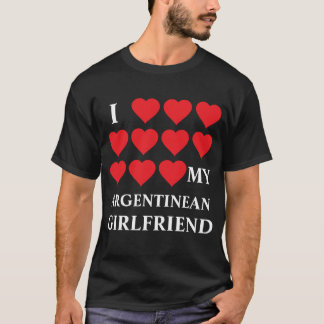 Amo a mi novio argentino camiseta